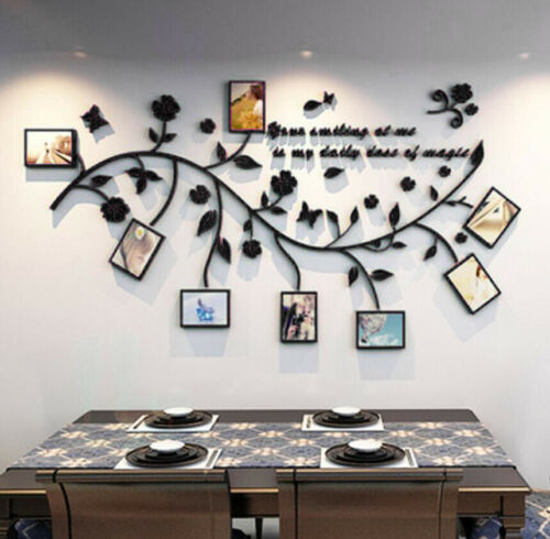 Family Home 3D DIY Photo Frame Wall Stickers Tree Branch Wall Adhesive Decals UK