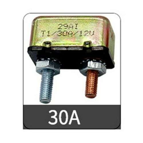 10-50 AMP Car Marine Circuit Breaker Metal Case Auto Reset Universal DC 14-28V