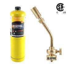 Bluefire Full Brass Pencil Flame Gas Welding Torch Head Kit W Mapp Map Propane