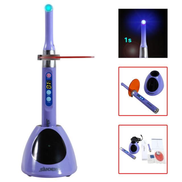 Dental Wireless iLed 1s Curing Light Lamp 2300mW Purple 450nm-455nm SANDENT-D CA