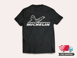 Michelin-Tires-Best-Tire-Brand-Logo-Men-039-s-Black-T-Shirt-Size-S-5XL-Ships-Free