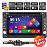 "6.2"" GPS Navigation Double 2DIN Car Stereo DVD Player Bluetooth iPod TV+Camera"