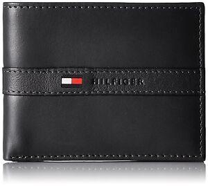 Genuine-Leather-TOMMY-HILFIGER-Mens-Black-Ranger-Wallet-amp-Gift-Box-FAST-POST