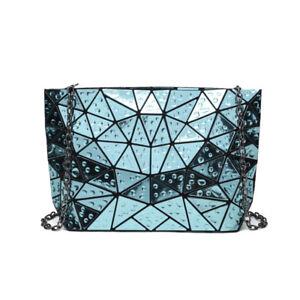 1126b353f810 New Geometric Bag Women s Clutch Handbag Chain Shoulder Hologram Bag ...