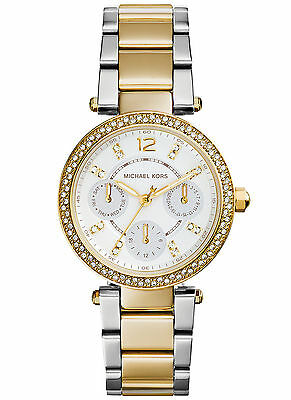 NEW Michael Kors MK6055 Mini Parker Women´s Two Tone Stainless Steel Watch