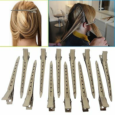 24 X Metal Hair Sectioning Sprung Clips Hair Cutting Straightening Styles Drying