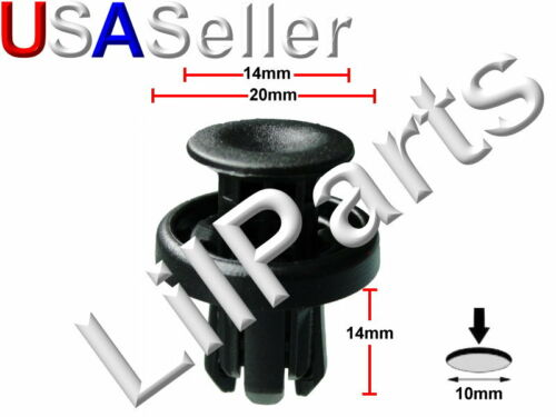 Bumper Wheel Well Liner Push Retainer A21706 Acura Honda 91505-TM8-003