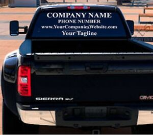 Large Rear Window Vinyl Decal Truck Van Personalized Business - Truck decals for back window