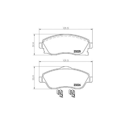 Vauxhall Corsa MK2//C 1.2 16 V Dual-Fuel Hatch Mintex Avant Disque De Frein /& Pad Set