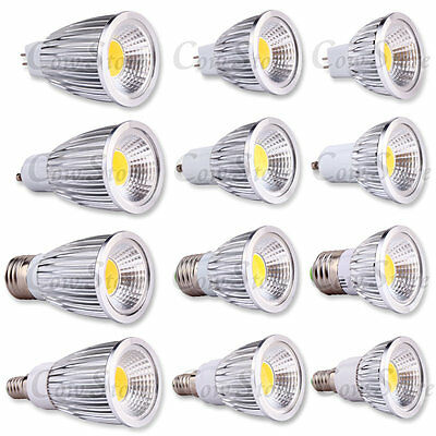 COB Ultra Bright Dimmable MR16 GU10 E27 E14 LED Spot Down Light Lamp Bulb Globe