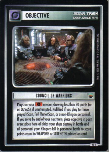 STAR TREK CCG TROUBLE WITH TRIBBLES RARE CARD COUNCIL OF WARRIORS