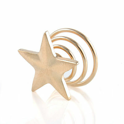 5x Fashion Women Gold Star Swirl Spiral Hair Clip Hairpin Barrettes Wedding Gift