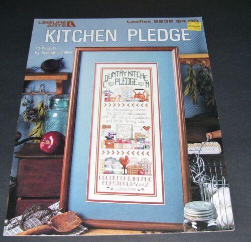 LEISURE ARTS COUNTED CROSS STITCH LEAFLET PATTERN #2239 KITCHEN PLEDGE 1992