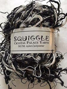 Crystal-Palace-Yarns-Squiggle-9418-Black-amp-White-Grey-Great-CarryAlong