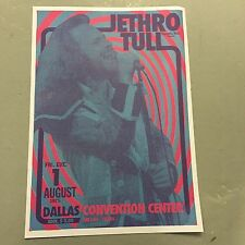JETHRO TULL - CONCERT POSTER DALLAS CONVENTION CENTER 1ST AUGUST 1975 (A3 SIZE)