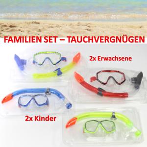 STRANDURLAUB-4x-Schnorchelset-Erwachsene-Kinder-Taucherbrille-Tauchmaske-2-2