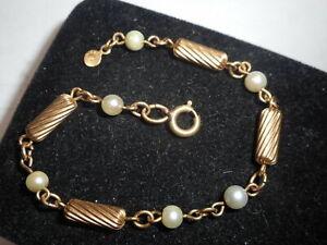 gold pearl bracelet Saltwater Pearls Bracelet 14 K gold filled balls bracelet