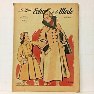 Le-Petit-Echo-de-la-Mode-N-45-6-Novembre-1949-Ancien-Magazine-Francais
