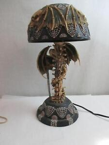 Table Lamp Skull Skeleton Wings Halloween Dragon Dark ...