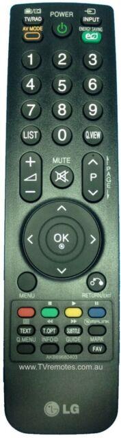 AKB69680403 Genuine Original LG TV Remote Control 42LH35FD, 42PQ20D, 50PQ20D NEW