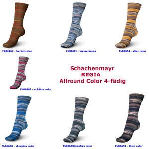 50g-5-20-100g-Schachenmayr-REGIA-Sockenwolle-Allround-Color-4-faedig-4-fach