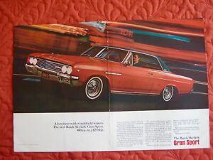 1965 BUICK GRAN SPORT COUPE - ORIGINAL PRINT CAR AD - EXCELLENT  CONDITION