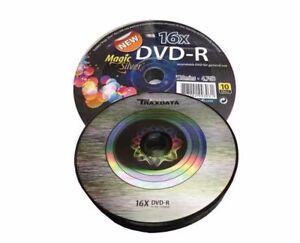 50-Traxdata-Branded-Magic-Silver-DVD-R-16x-Blank-DVD-Discs-4-7GB-Ritek-F01