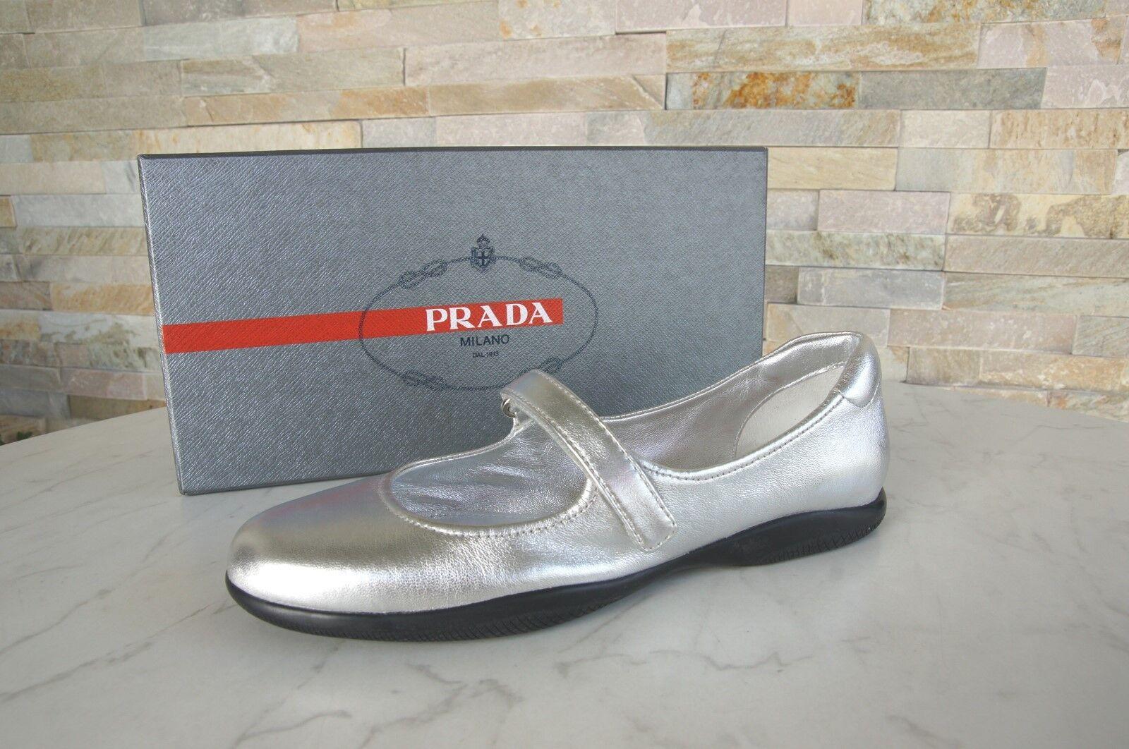 PRADA PRADA PRADA Gr 38,5 Ballerinas Slipper 3F5733 Schuhe Halbschuhe nero NEU 69bb33