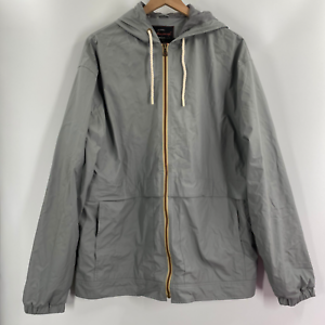 Weatherproof-Original-Mens-Gray-Polyester-Hoodie-Lightweight-Jacket-Size-XL