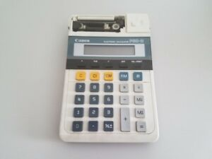 Vintage-Portable-Canon-P60-D-Vintage-Electronic-Calculator-Adding-Machine