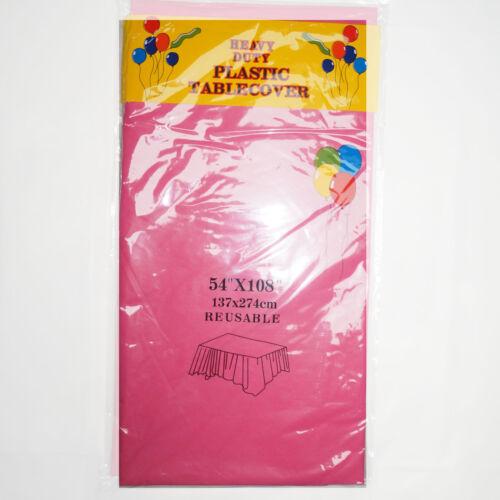 """nappes parti-beaucoup de couleurs! 12 X Plastique Oblong Nappe 54/""""x108/"""""""