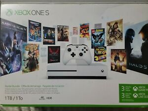 Microsoft Xbox One S 1TB White Bundle w/(X7) Games 4k Ultra Blu-Ray Controller