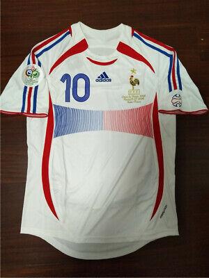 Shirt Jersey France Away World Final 2006 #10 Zidane | eBay