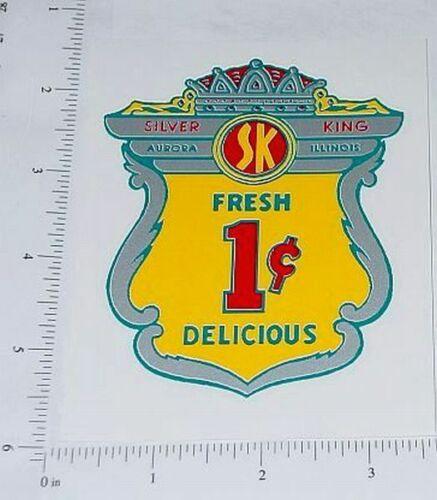 Silver King 1 Cent Vending Machine Sticker         V-42