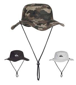 Quiksilver-Bushmaster-Chapeau-Noir-Camouflage-acier-gris-Neuf