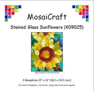 MosaiCraft Pixel Craft Mosaic Art Kit 'Stained Glass Sunflowers' Pixelhobby