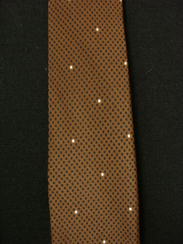 VINTAGE 1950'S-1960'S SILK VITALIANO BROWN TIE