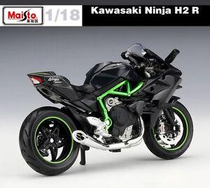 118 Kawasaki Ninja H2 R Motorcycle Model Collection Maisto