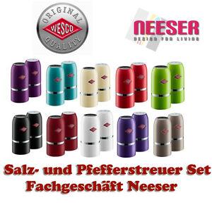 wesco design salz und pfeffer streuer 2er set. Black Bedroom Furniture Sets. Home Design Ideas