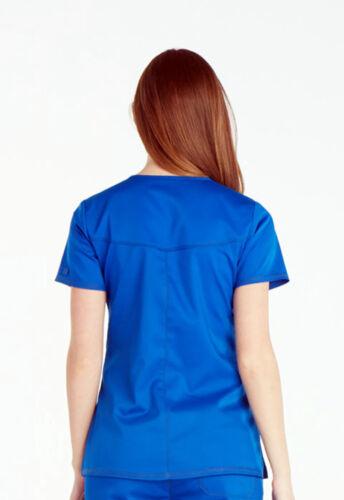 Royal Blue Dickies Scrubs Essence V Neck Top DK803 ROY
