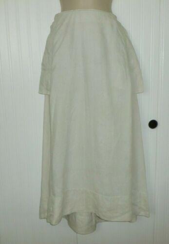 Antique Edwardian LINEN Skirt c1900s Walking Skirt