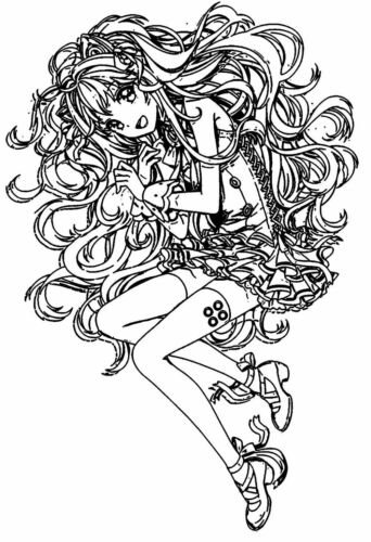 """2.5/""""x4/"""" Clear Stamp acrylic unmounted Anime Manga Japan FLONZ Fuzzy Haired"""