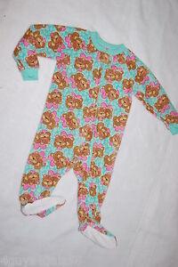 09b6c79ec Toddler Girls BLANKET SLEEPER Mint Green CUTE BABY LEOPARDS Footie ...