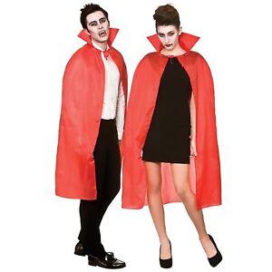 Adulte Cape Avec Col Rouge Halloween Déguisement Vampire Costume Sorcier-afficher Le Titre D'origine