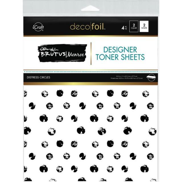 Deco Foil Clear Toner Sheets 8.5X11 4//Pkg-Rustic Winter