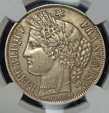 {BJSTAMPS}  1870 A FRANCE 5 Francs Ceres with Motto NGC XF40  KM# 818.1  silver