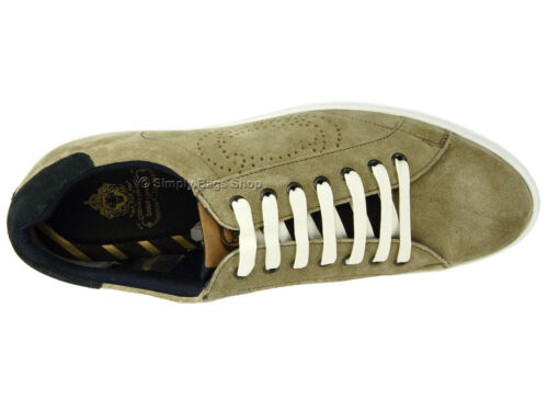 Base London Mens Leather /& Suede Casual Shoes With Contrast White Rubber Sole