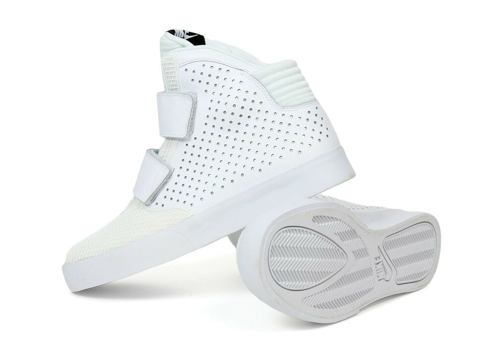 Nike Platinum/Blanc Pour Hommes Flystepper 2K3 Pure Platinum/Blanc Nike Basketball Baskets 677473 101- 465056