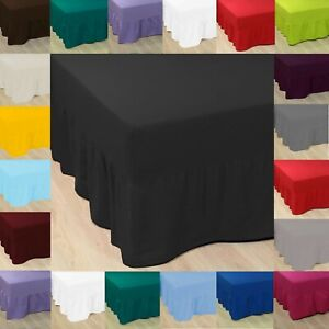 LATTE Luxury Fitted Valance Bed Sheet Poly Cotton Single Double King Size