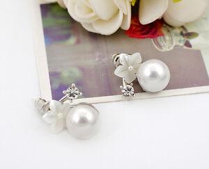 925-Sterling-Silver-10MM-Pearl-Elegant-Mother-of-Pearl-Flower-Stud-Earrings-Gift